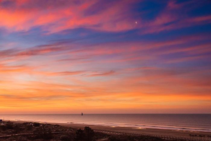 Sonnenuntergang über dem Atlant. Ozean (vom Hotel aus gesehen)