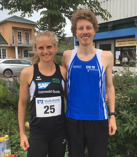 Bjarne Friedrichs und Fabienne Königstein vor dem Rennen in Hüttenfeld