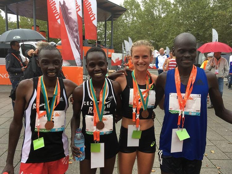 Fabienne und einige der Top-Läufer und Läuferinnen