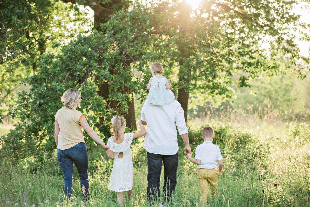 Familie draußen